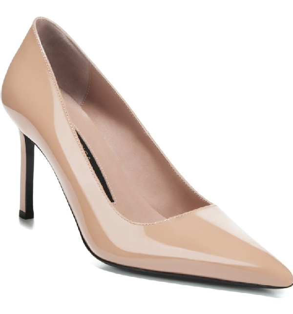 b5ca6aeeb7 Via Spiga Women's Nikole Patent Leather Stiletto Pumps In Nude Patent  Leather