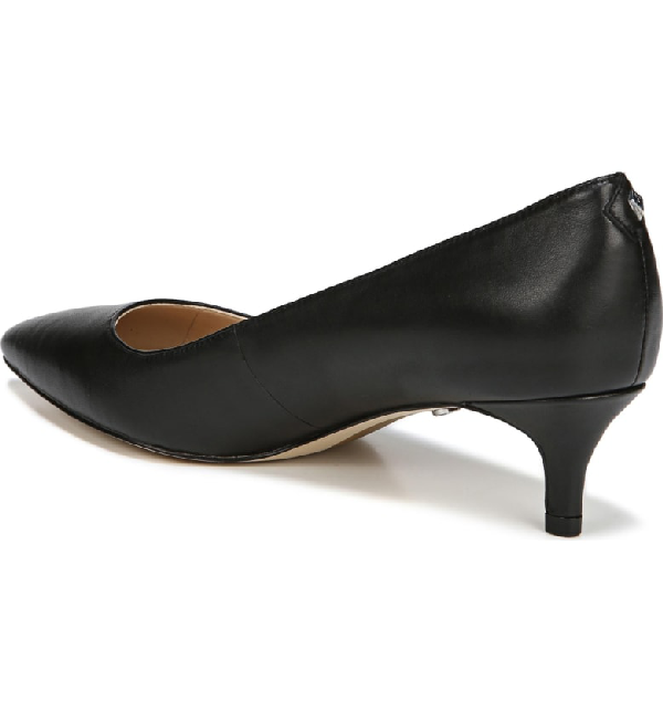 52cc2707c1b0 Sam Edelman Women s Dori Pointed Toe Kitten Heel Pumps In Black Suede