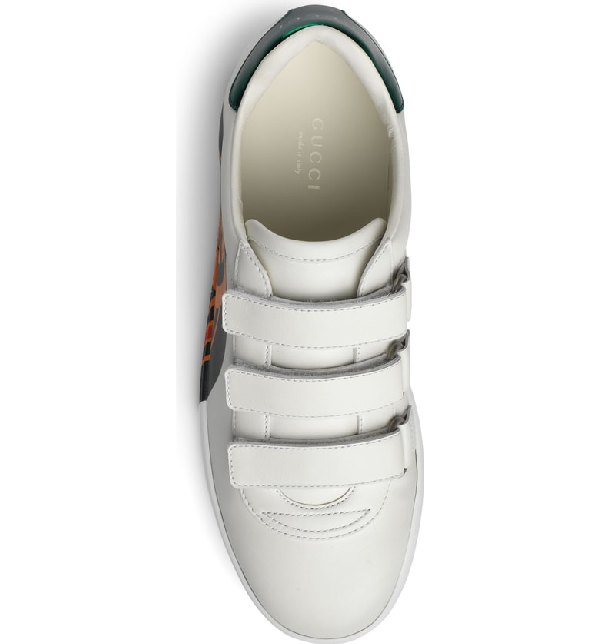 Gucci New Ace Leather Sneakers - White