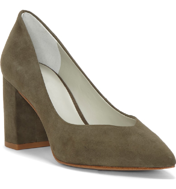 8acc1246137 1.State Saffy Block Heel Pump In Slate Suede