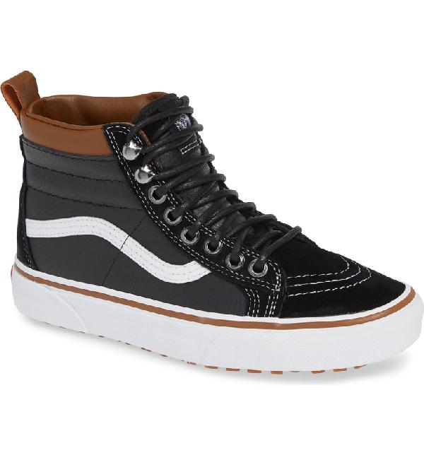 3af1bb5184daf7 Vans Sk8-Hi Mte Sneaker In Leather  Black  True White