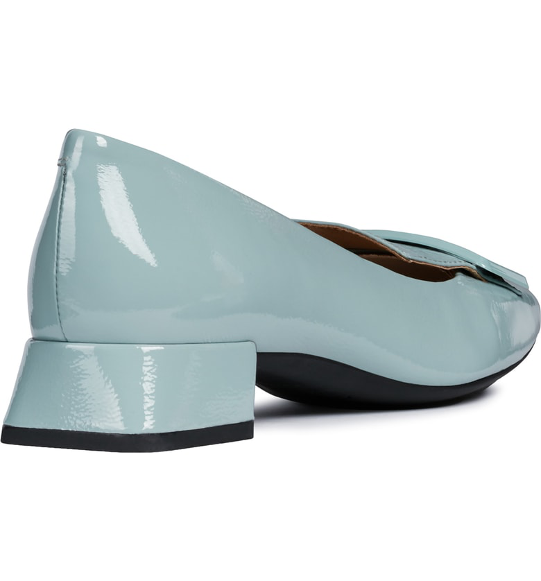 a9c841ab9e1 Geox Vivyanne Square Toe Loafer Pump In Light Green Leather | ModeSens