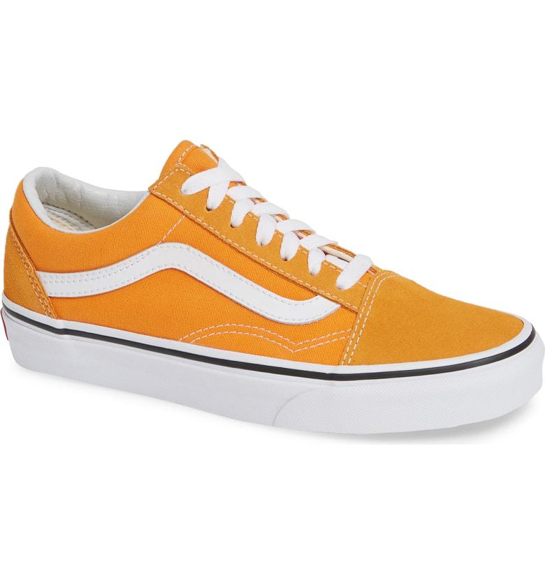 d89d1ca4825 Vans Old Skool Sneaker In Dark Cheddar  True White