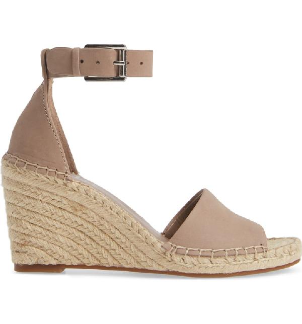 2303add8285 Women's Leera Suede Espadrille Wedge Sandals in Dusty Mink Leather