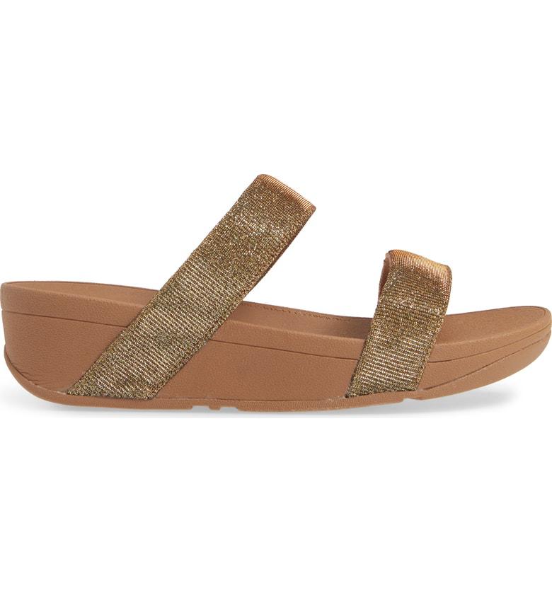 f061e3592 Fitflop Lottie Glitzy Sandal In Artisan Gold
