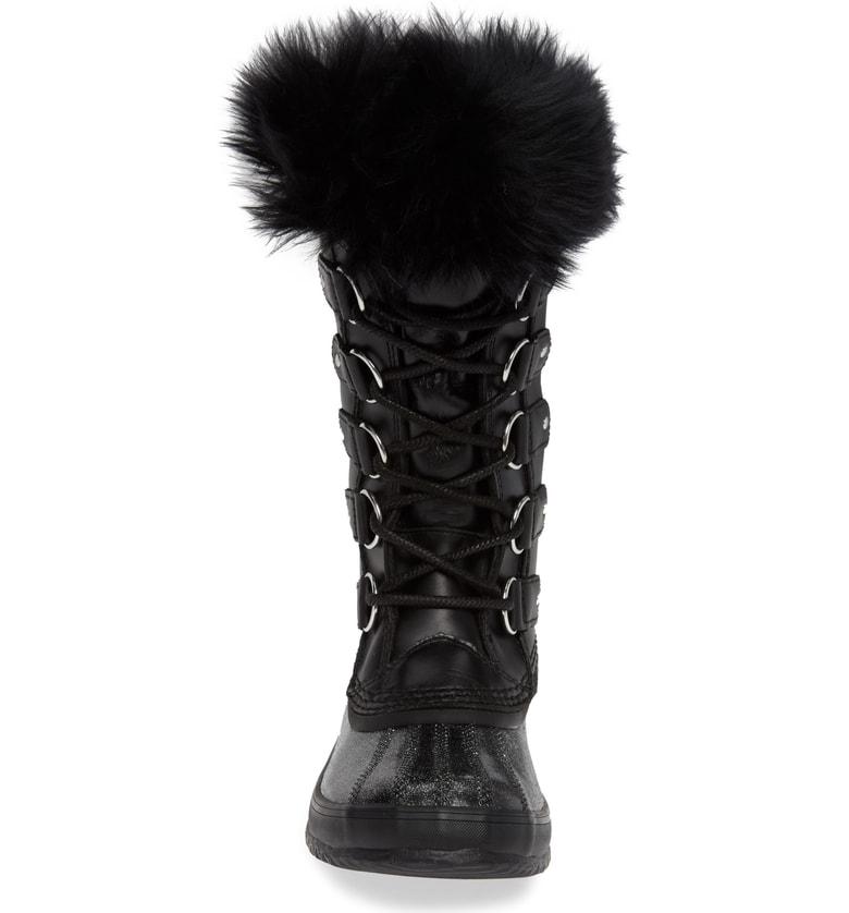 0548be7a5b9 Sorel Joan Of Arctic(Tm) Lux Waterproof Winter Boot With Genuine Shearling  In Black