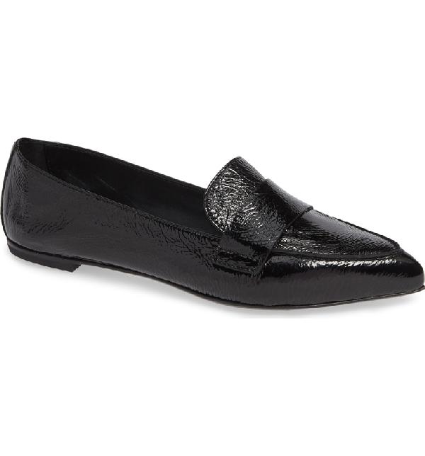 11f8adc8768 Agl Attilio Giusti Leombruni Softy Pointy Toe Moccasin Loafer In Black  Leather