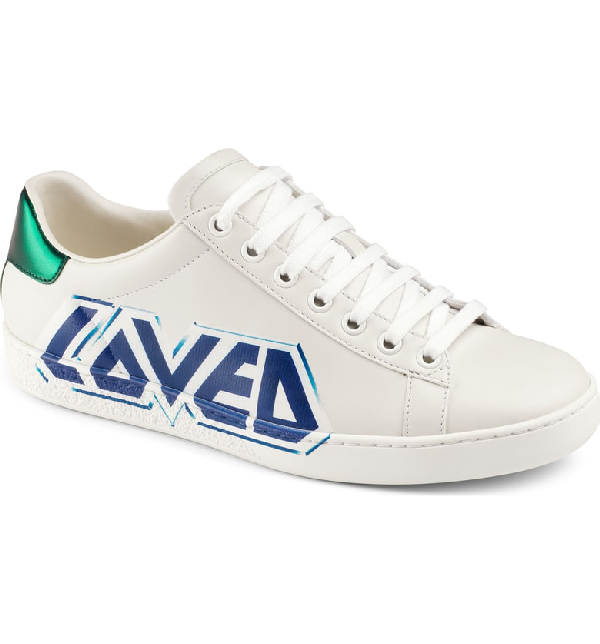 Gucci New Ace Loved Sneaker In White