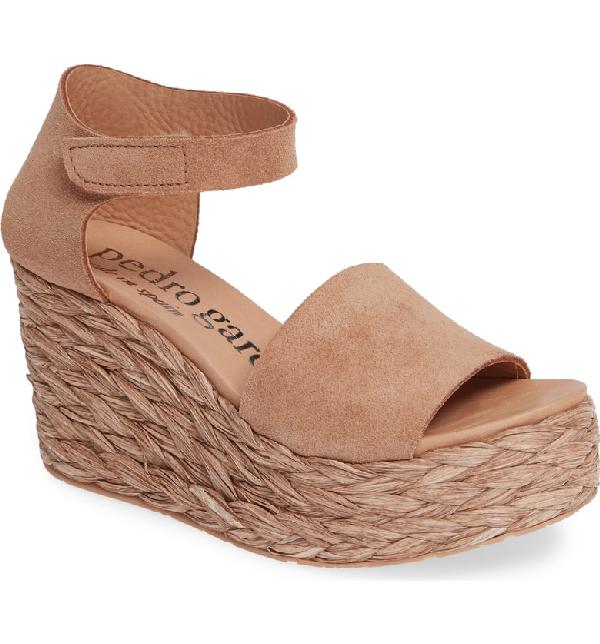 1513c129b9a Pedro Garcia Dory Suede Low-Wedge Espadrille Sandals In Rose Castoro ...