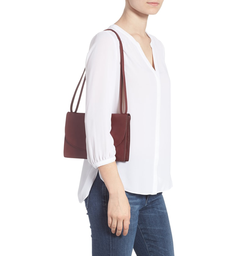 985c9a36b37e Madewell The Slim Convertible Leather Shoulder Bag - Burgundy In Dark  Cabernet