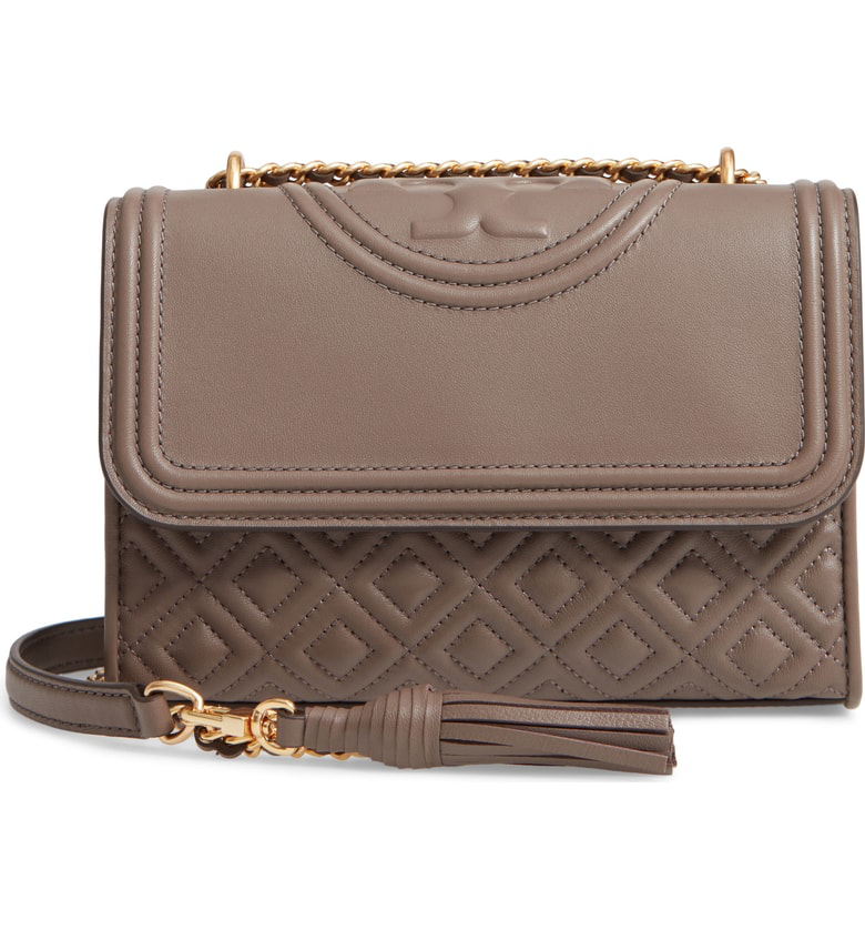 c0de15236b9d1 Tory Burch Fleming Quilted Leather Small Convertible Shoulder Bag In Silver  Maple