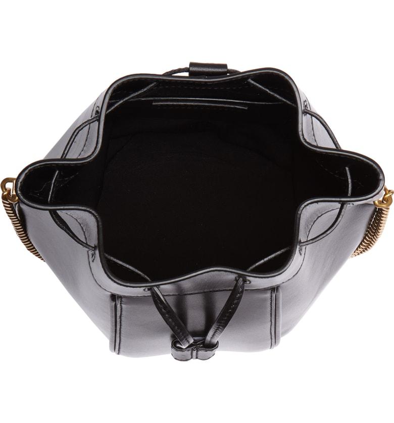 Saint Laurent Small Talitha Leather Bucket Bag - Black In Noir ... 70503c373f187