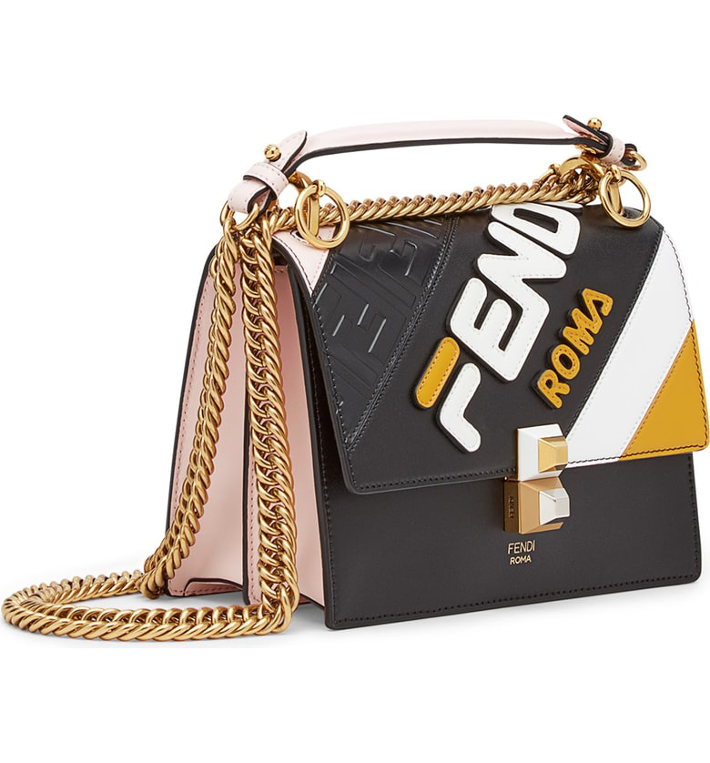 5858d52fece1 Fendi X Fila Small Kan I Mania Logo Shoulder Bag - Black