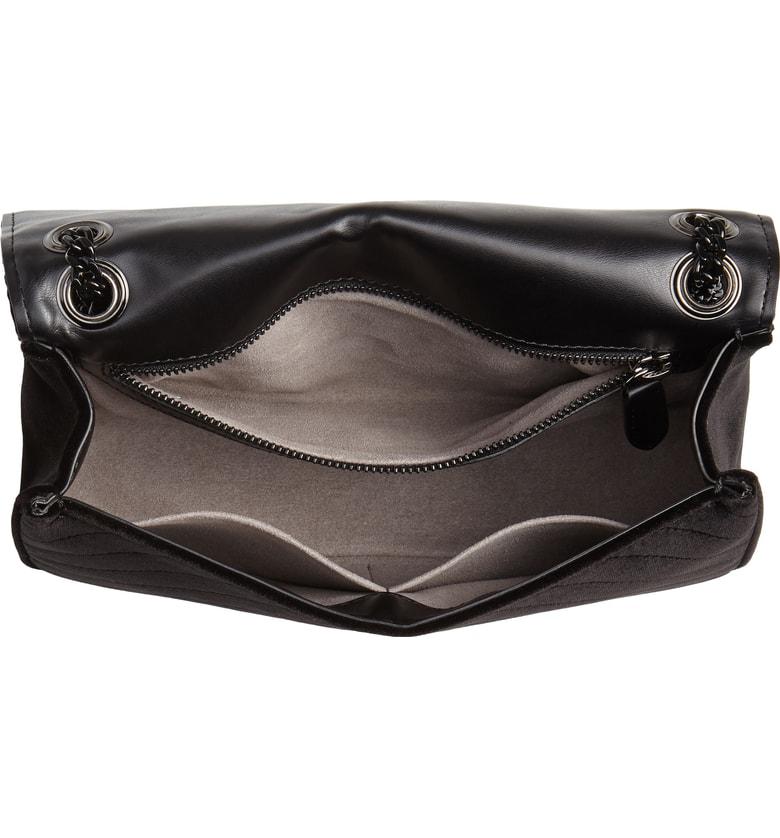 Stella Mccartney Medium Velvet Star Shoulder Bag - Black  7f0f6da936b88