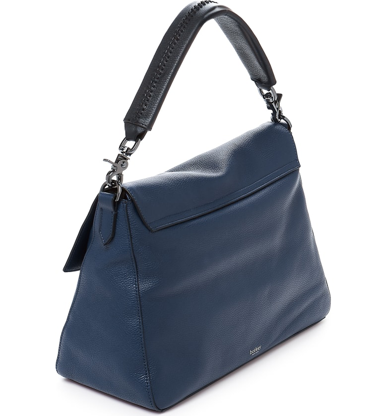 e043c2aae35a Botkier Cobble Hill Slouch Calfskin Leather Hobo In Ink