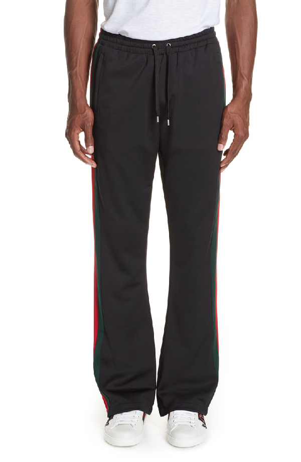 a0acbf2bbc26 Gucci Technical Jersey Flare Pants In Black