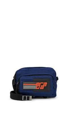 faf06596cd Prada Stitched Tech-Twill Shoulder Bag - Blue