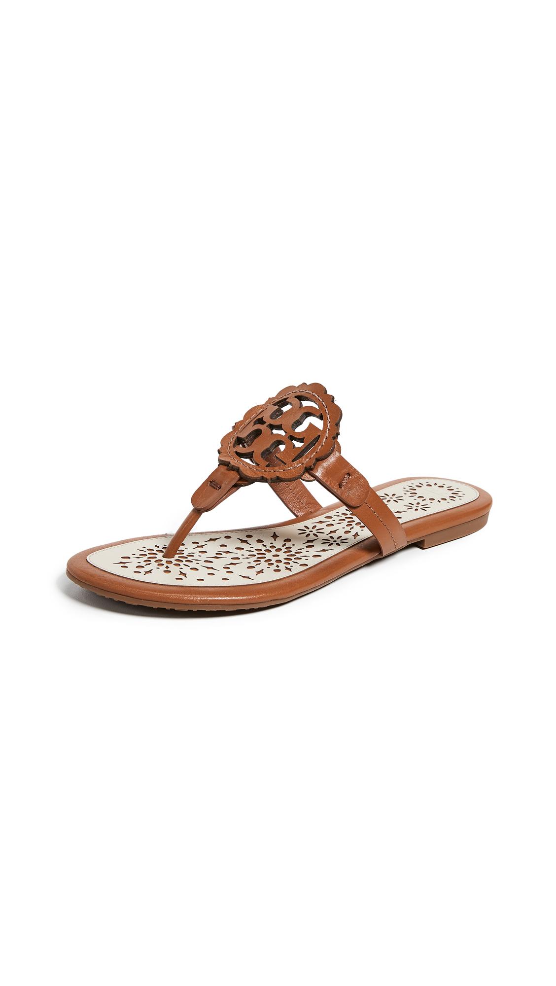 94a1c1c304a Tory Burch Miller Scallop Sandals In Tan New Cream