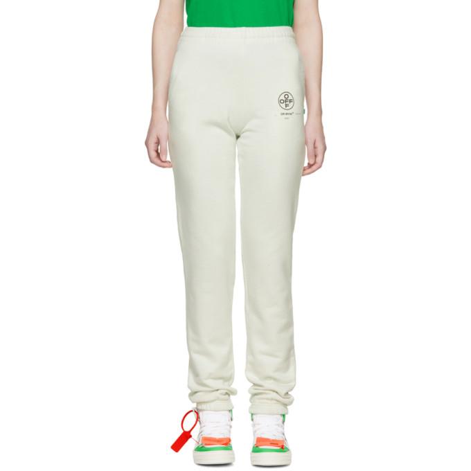 OFF-WHITE OFF-WHITE OFF-WHITE DIAG STENCIL LOUNGE PANTS
