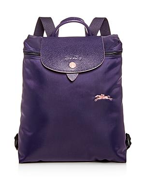 5a9cf5682a Longchamp Le Pliage Club Nylon Backpack In Bilberry/Silver | ModeSens