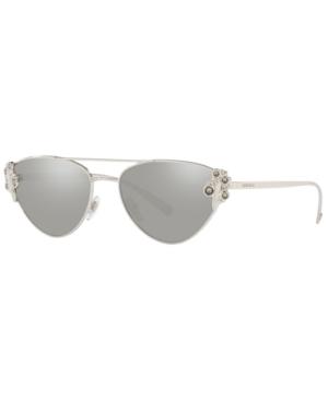 14cf3c17c2f0 Versace Cat-Eye Metal Barocco Sunglasses In Silver   Light Grey Mirror  Silver