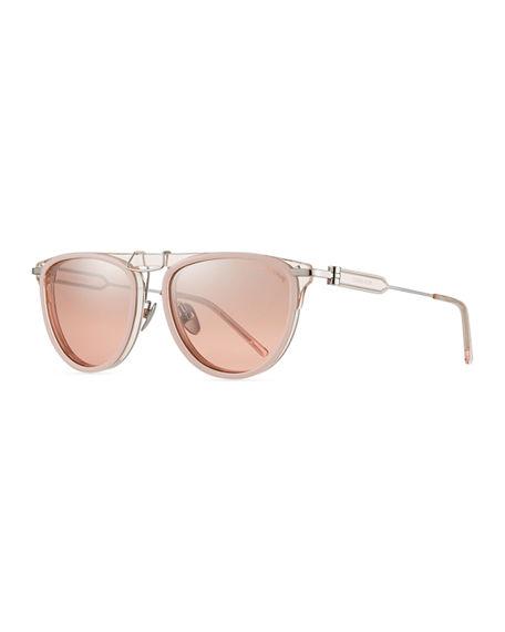 9354f0ec4 Calvin Klein 205W39Nyc Acetate & Metal Aviator Sunglasses In Pink ...