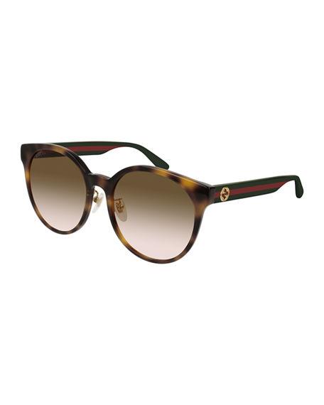 b68f005d9 Gucci 55Mm Round Sunglasses - Havana/ Multi/ Brown Gradient   ModeSens