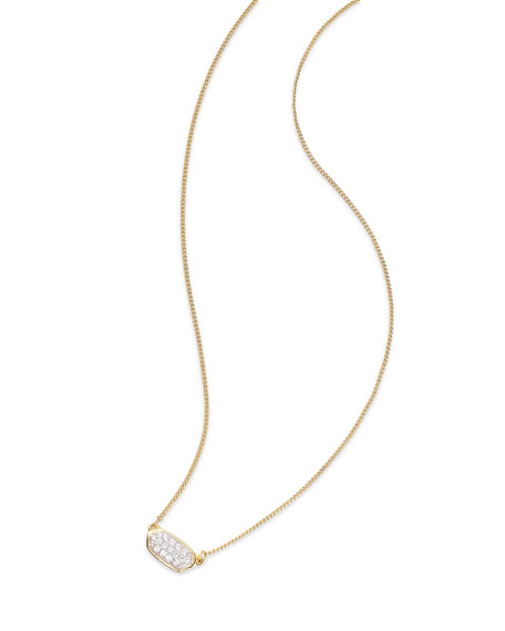 6cad433699617 Lisa Diamond Necklace In 14K Yellow Gold, 14K Rose Gold Or 14K White Gold,  15 in 14K Gold White Diamond