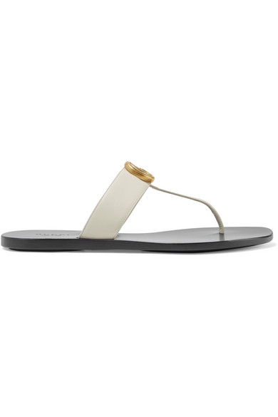 fcb815a75b43 Gucci Marmont Flat Marmont Leather Thong