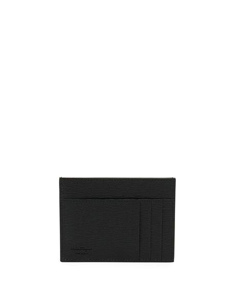 ba548f57d24 Salvatore Ferragamo Men s Revival Gancini Leather Card Case In Black ...