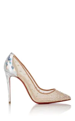 5d054965f84 Christian Louboutin Crystal-Embellished Follies Strass Pumps In Brown