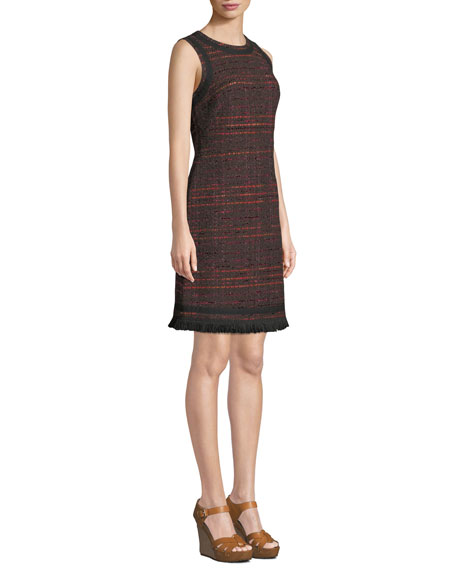 e03d6fde Kate Spade Multi-Tweed Fringe Sheath Dress In Bittersweet | ModeSens