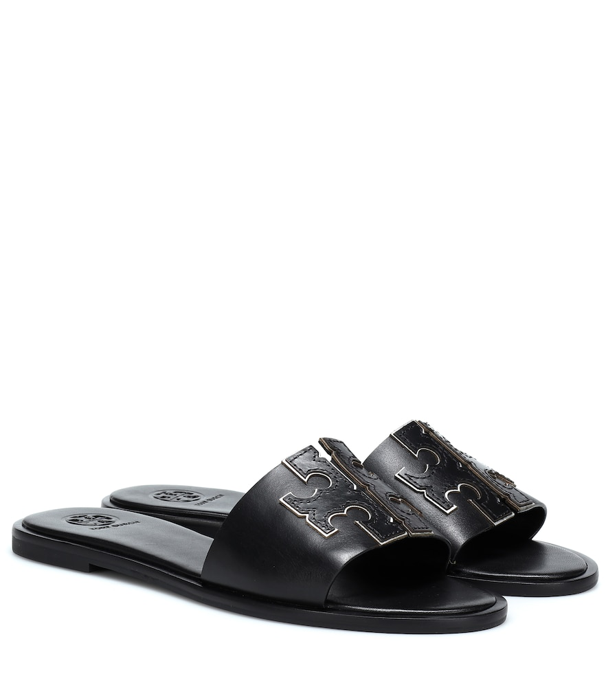 1a4bb60cec68 Tory Burch Women s Ines Leather Slide Sandals In Black