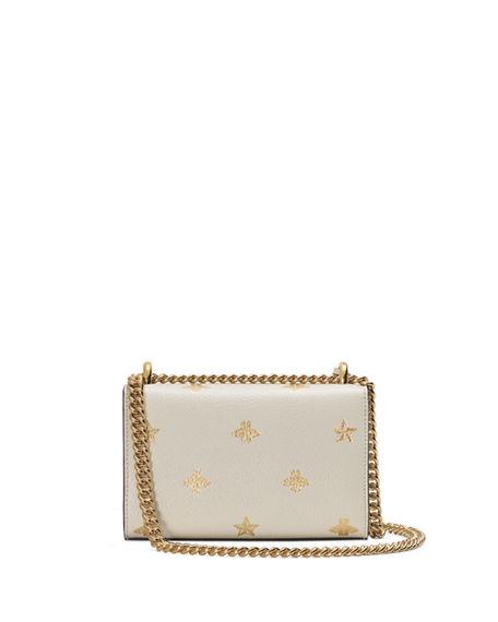 ba08c7ee0ff71b Gucci Padlock Mini Bee & Star Shoulder Bag In White Leather | ModeSens