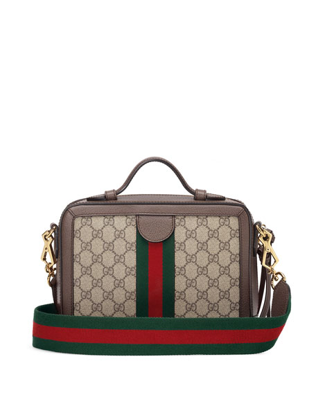 14c561529ca7 Gucci Small Ophidia Gg Supreme Canvas Shoulder Bag - Beige In Brown ...