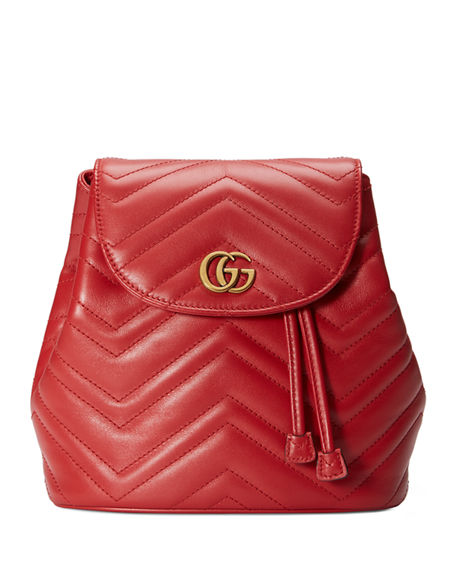 25dd5465b Gucci Gg Marmont 2.0 Matelasse Leather Mini Backpack - Red In 6433 Hibis Red