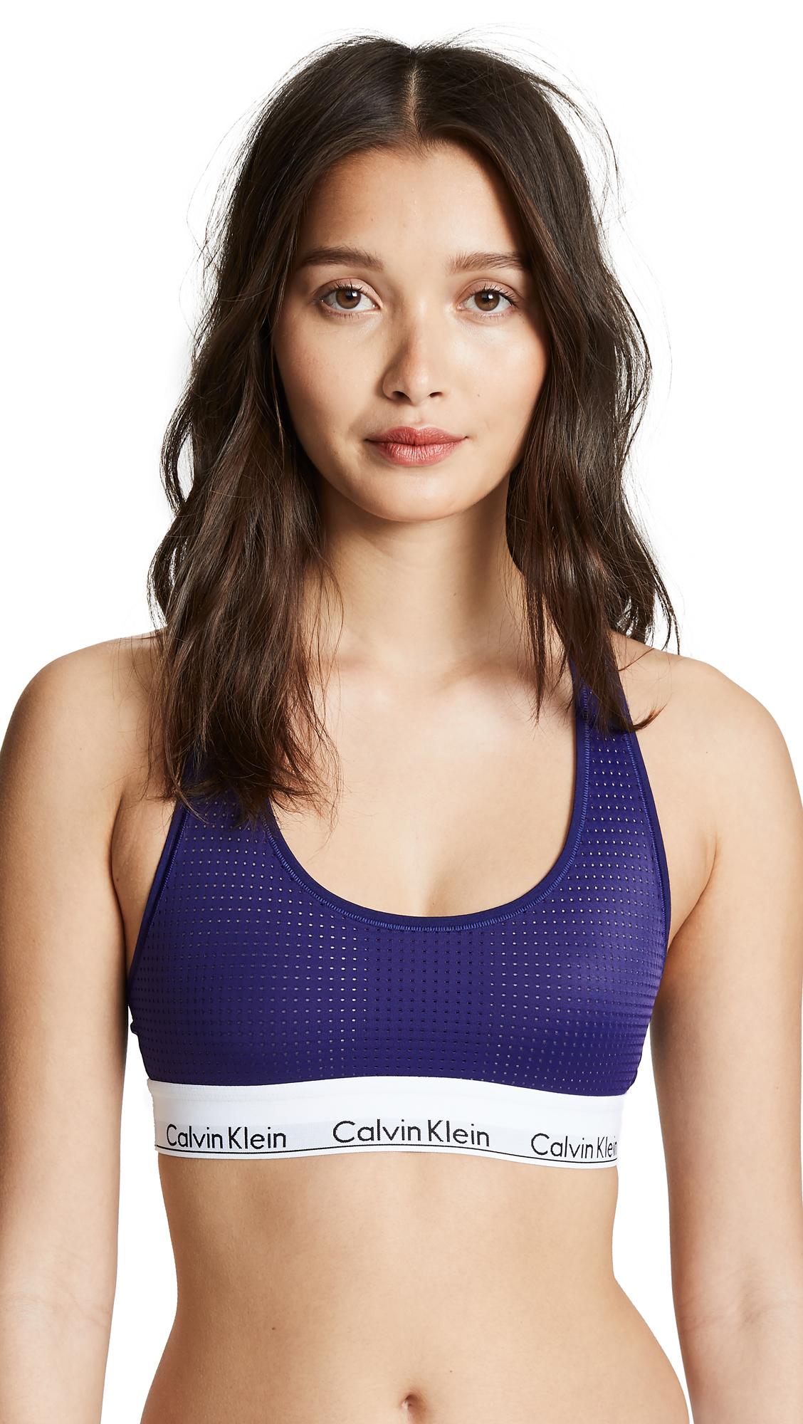 1e711be604d Calvin Klein Underwear Modern Cotton Unlined Bralette In Shilo Blue ...