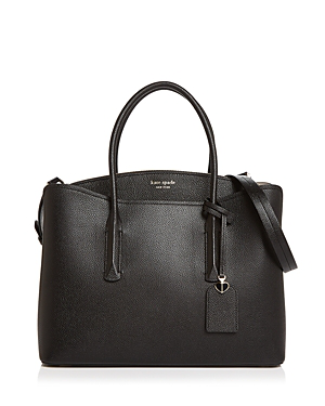 Kate Spade Large Margaux Leather Satchel - Black