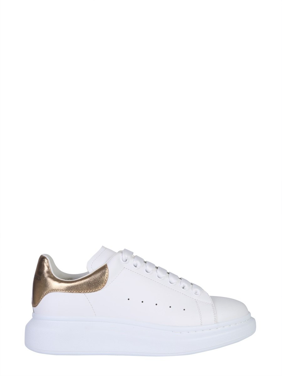571ff000c5319 Alexander Mcqueen Men s Leather Platform Sneakers With Metallic Back