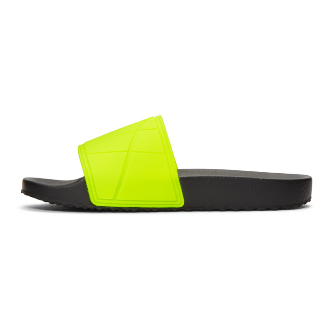 b0712a1d3038 Prada - Logo Embossed Rubber Slides - Mens - Yellow In F0L0F Giall ...