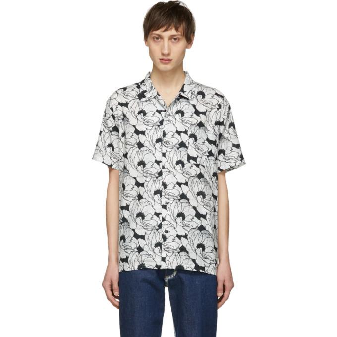 4d61b6c48 Double Rainbouu White And Black Nu Romance Hawaiian Shirt In P0066 Nu Ro