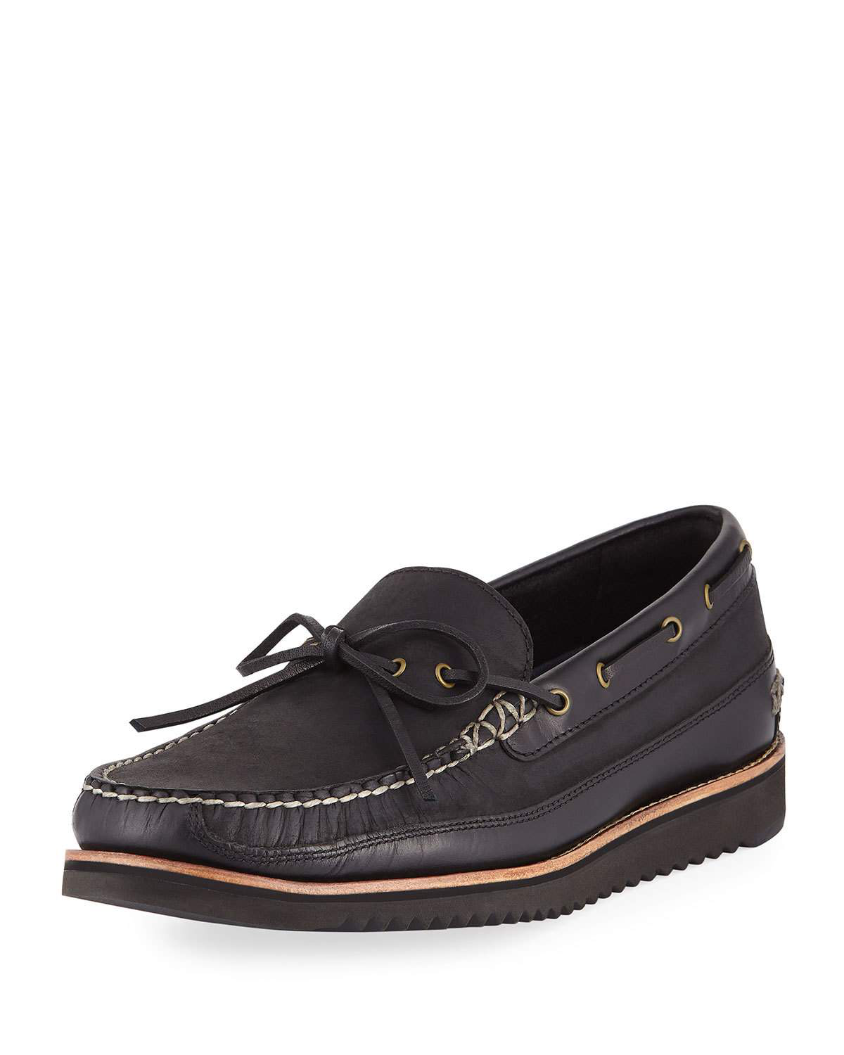 c13c9a653a2 Cole Haan Men s Pinch Rugged Camp Boat Shoes In Black