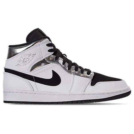 the best attitude 5605a 70d72 Nike Men s Air Jordan 1 Mid Retro Basketball Shoes, White