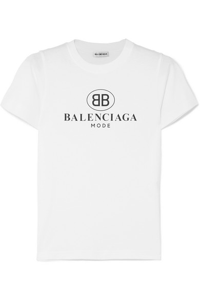9e10ebdda309 Balenciaga Women's White Logo-Print Cotton-Jersey T-Shirt | ModeSens