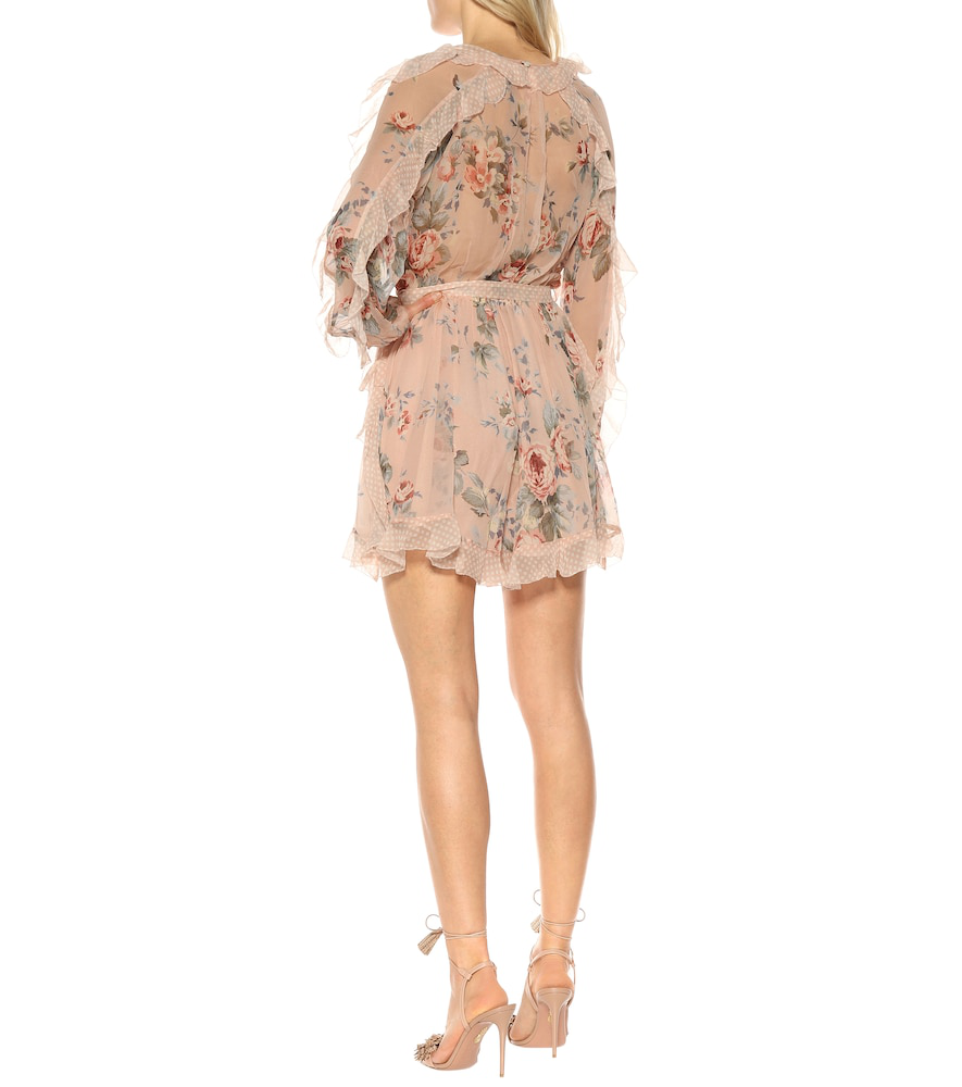 af2480e394a Zimmermann Bowie Printed Silk Playsuit In Pink