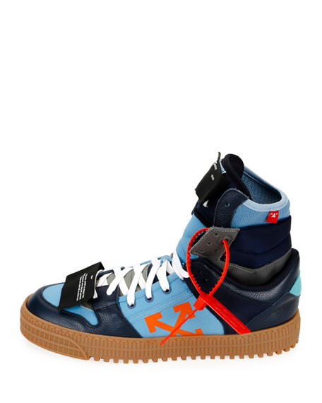 d9dcde1c652b Off-White Men s Off Court Suede Leather High-Top Sneakers In Blue ...