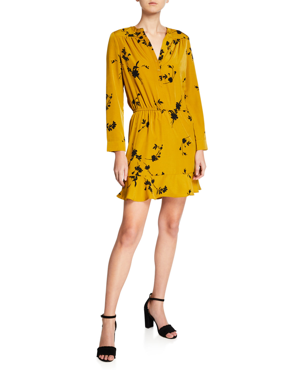 f7da8db851b8 Joie Acey A-Line Mini Dress In Goldenrod | ModeSens