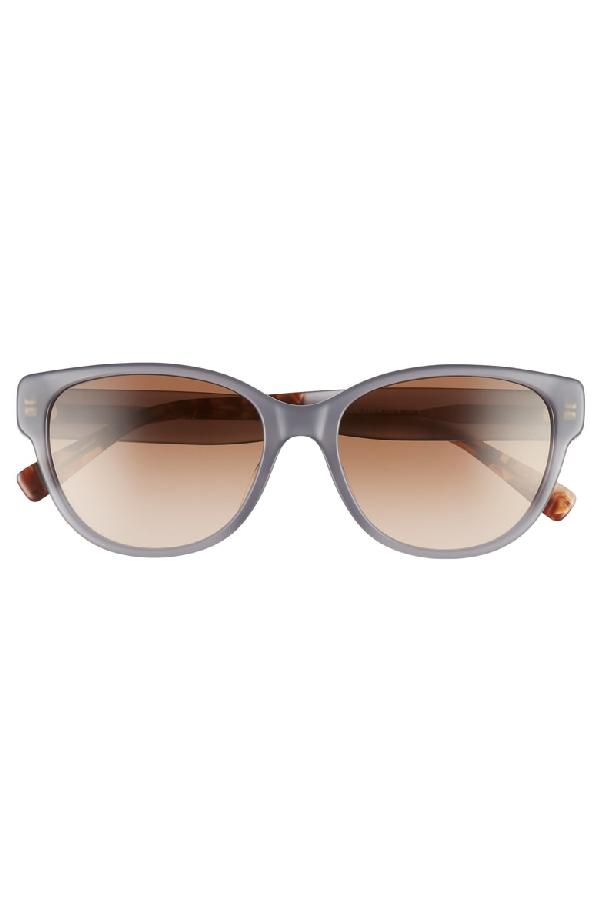 439dcb1fe5a7 Max Mara Leisure 55Mm Cat Eye Sunglasses - Brown/ Grey | ModeSens