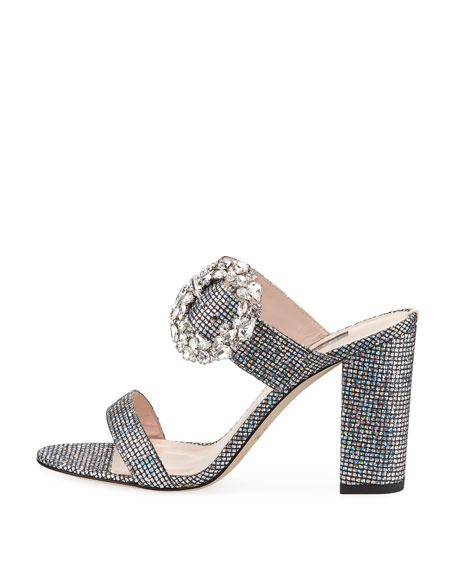 851076569b3 Sjp By Sarah Jessica Parker Celia Embellished Sparkle Slide Sandals In  Scintillate