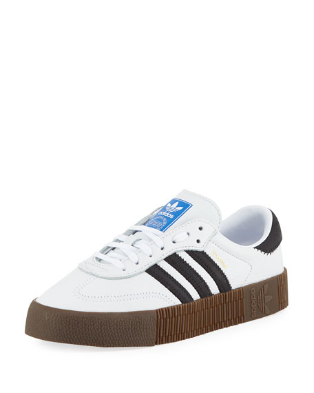 284657a7351 Adidas Originals Samba Rose Sneakers In White With Dark Gum Sole - White